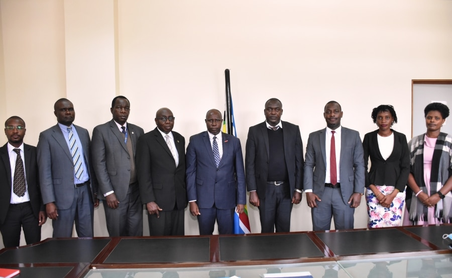 EACJ PRESIDENT RECEIVES TANGANYIKA LAW SOCIETY CHAIRPERSON WHO PAID COURTESY TO LEARN ABOUT THE COURT AND IDENTIFY AREAS OF COOPERATION